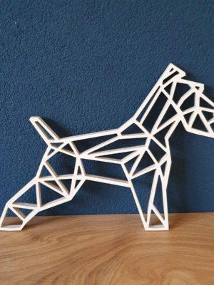 Geometrische houten fox terrier