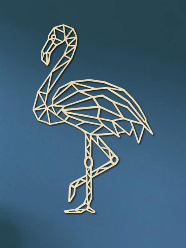 Geometrische Flamingo