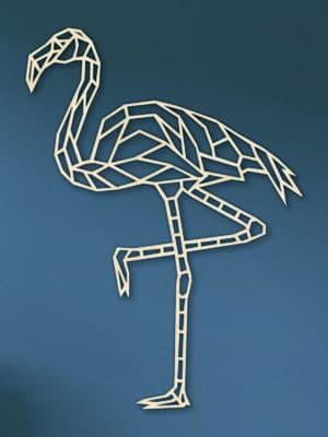 Geometrische houten Flamingo