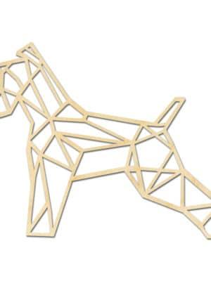 Geometrische Fox Terrier Hout Muur