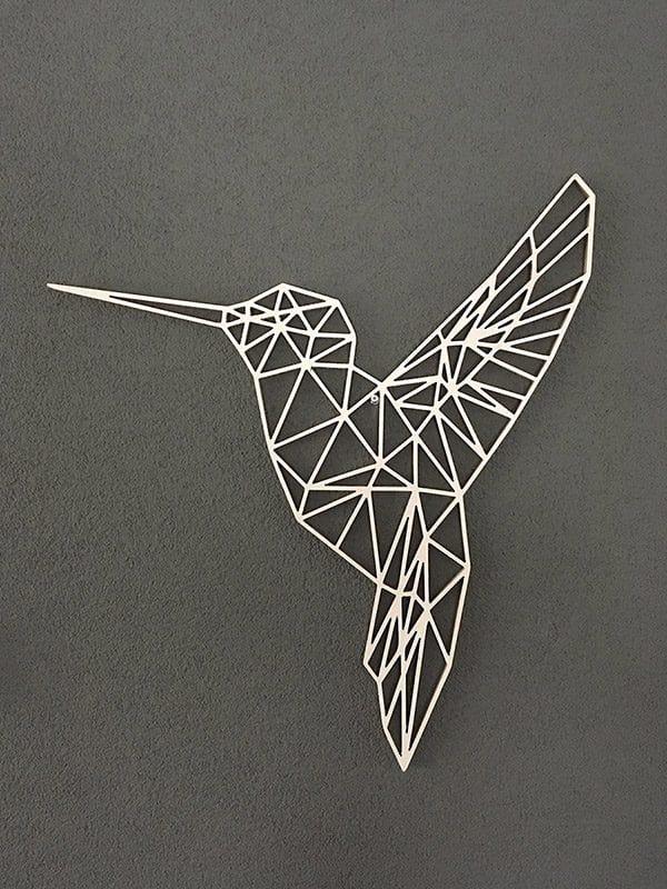 Geometrische kolibrie van hout