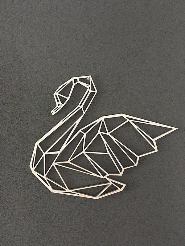 Geometrische zwaan van hout