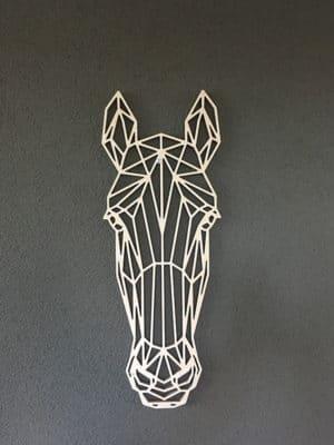 Geometrisch paard van hout