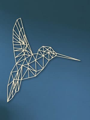 Geometrische houten Kolibrie