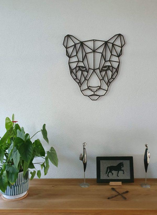 Geometrische houten Poema
