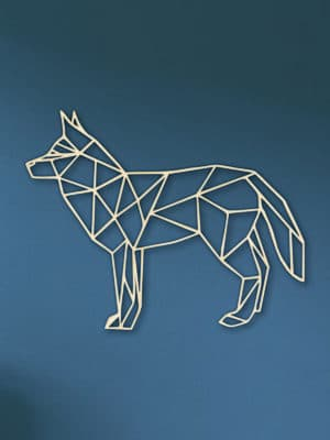 Geometrische houten Wolf