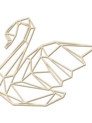 Geometrische houten Zwaan