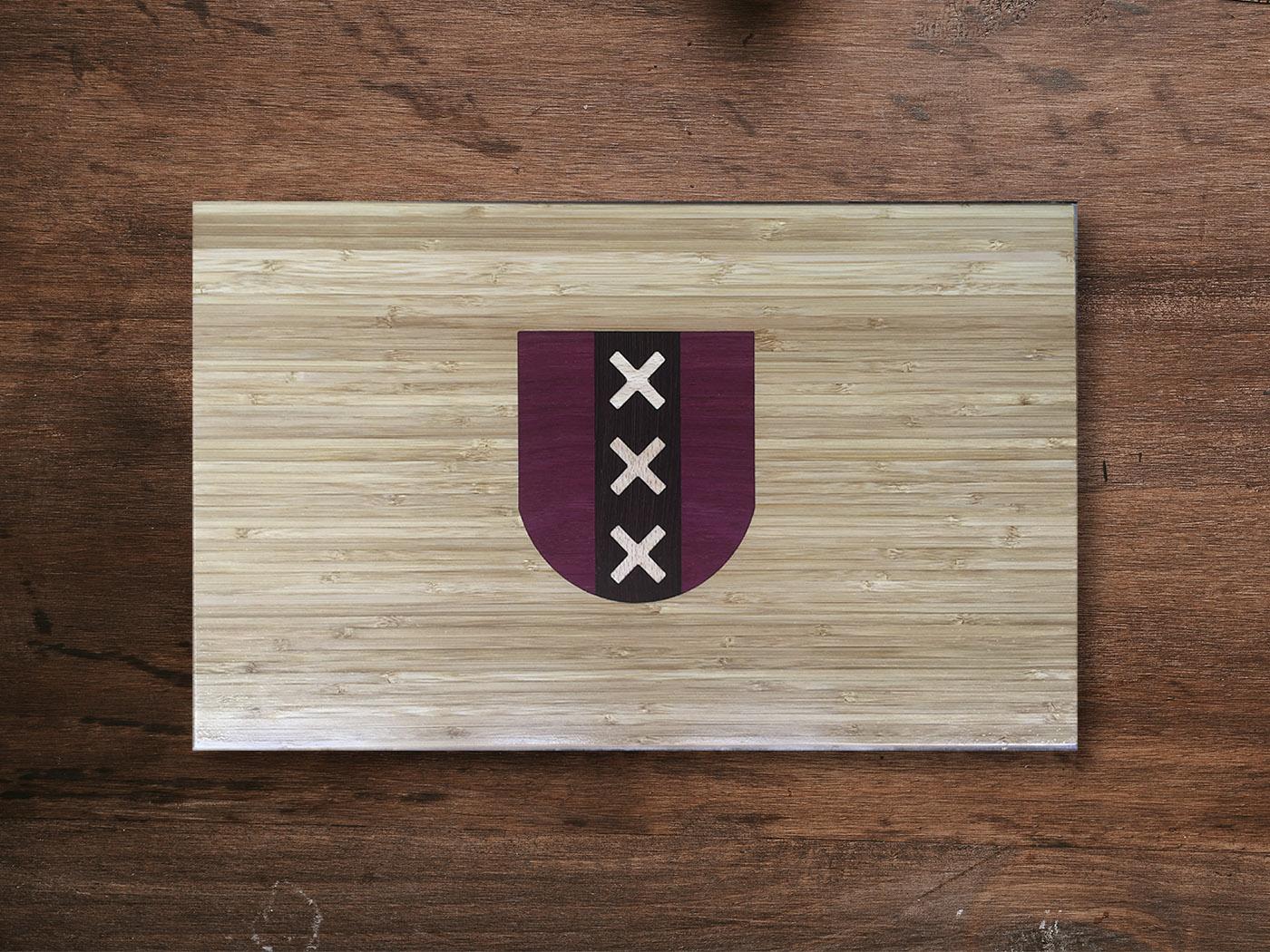 Houtinleg snijplank amsterdam logo