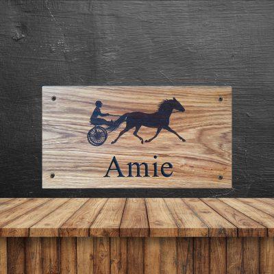 Naambord eiken paard Amie