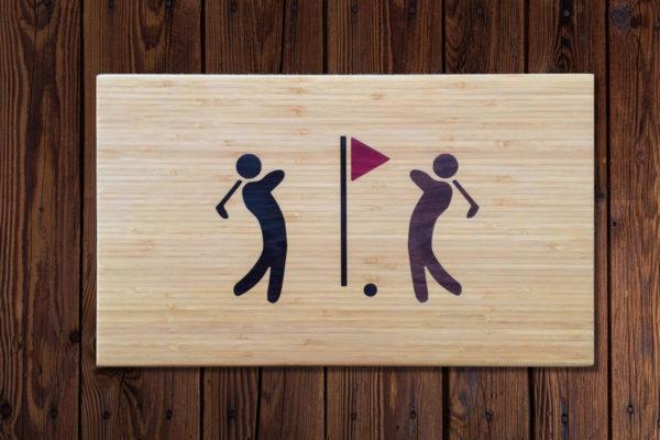 Snijplank houtinleg Golf
