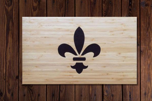 Snijplank houtinleg lelie frankrijk