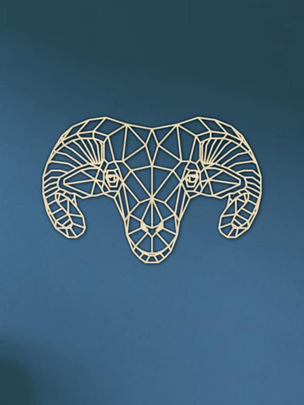 Geometrische houten Ram