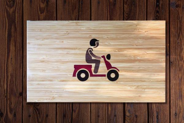 Snijplank houtinleg scooter