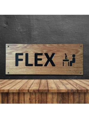 Naambord eiken Flex