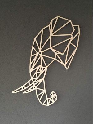 Geometrische Olifant zijkant