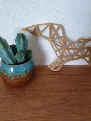 Geometrische houten Meeuw