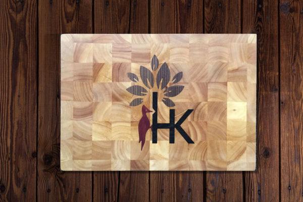 Snijplank houtinleg hout-kado
