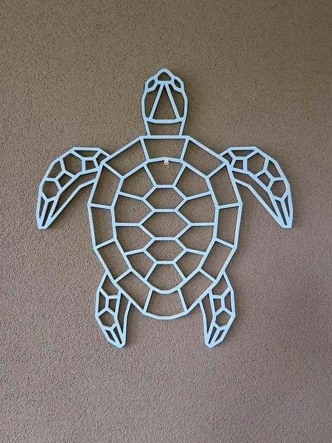 Geometrische houten schildpad