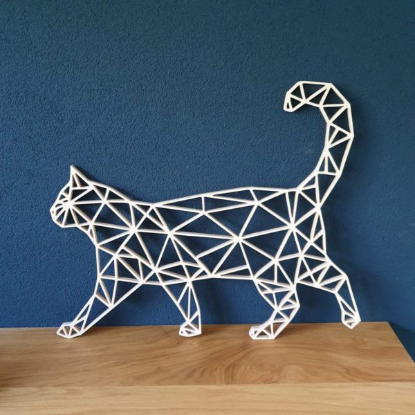 Geometrische houten Kat