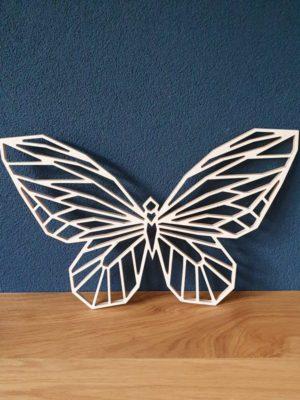 Geometrische houten Vlinder
