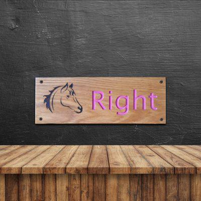 Eiken houten naambord