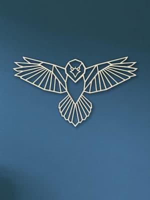 Geometrische houten Roofvogel