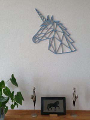 Geometrische houten Eenhoorn