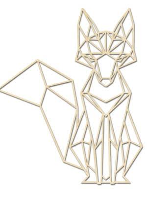 Geometrische houten Vos