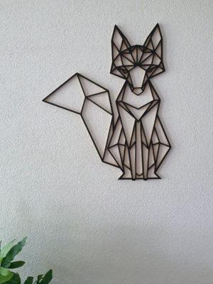 Geometrische Vos muur hout