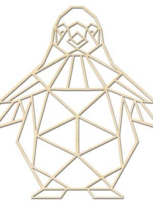 Geometrische houten pinguin