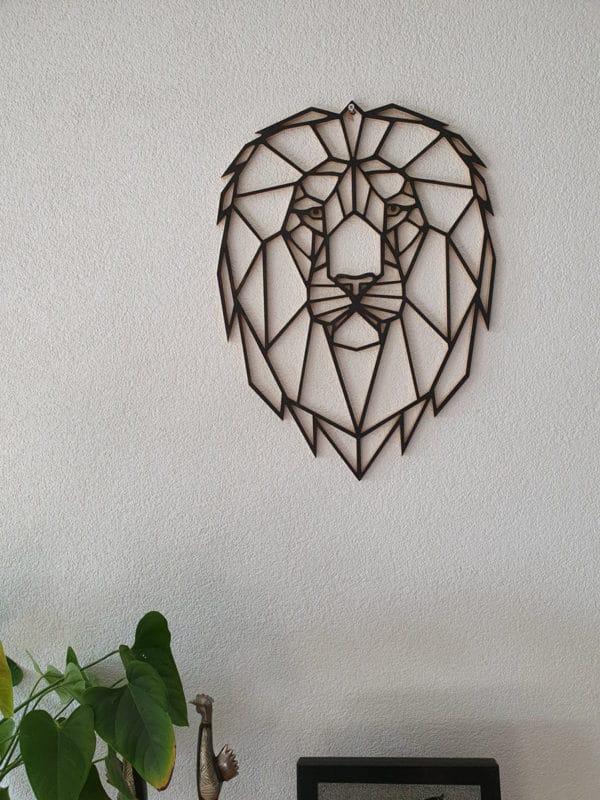 Geometrische houten Leeuw