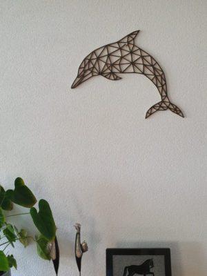Geometrische houten Dolfijn