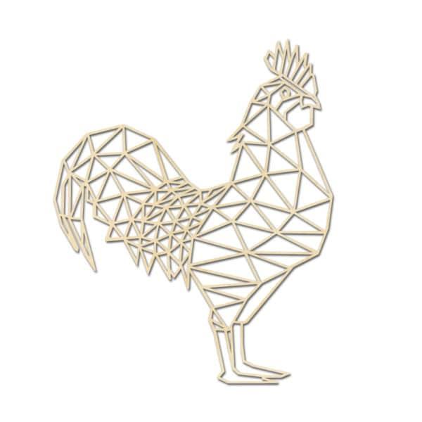 Geometrische houten Haan