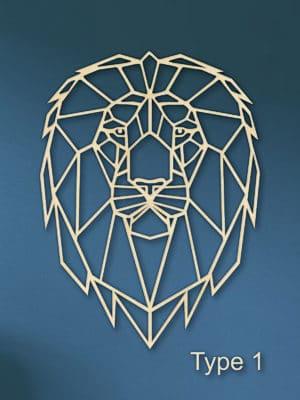 Geometrische leeuw hout