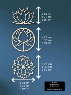 Geometrische lotus blomen hout muur maten