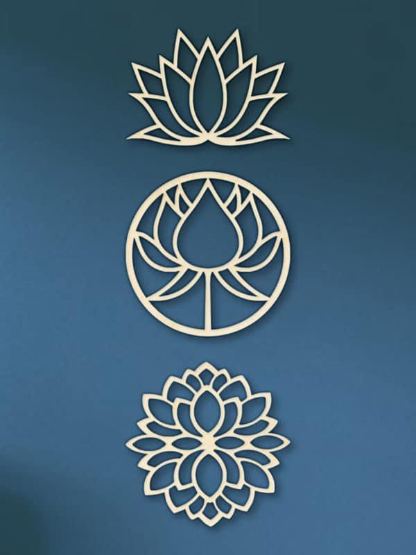 Geometrische houten Lotus set