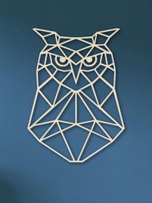 Geometrische houten UIl
