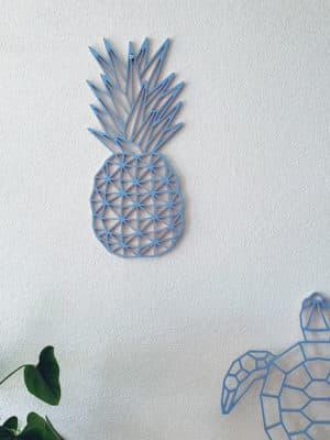 Geometrische Ananas muur hout