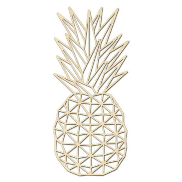 Geometrische houten Vredes ananas