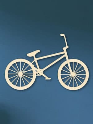 Geometrische houten BMX