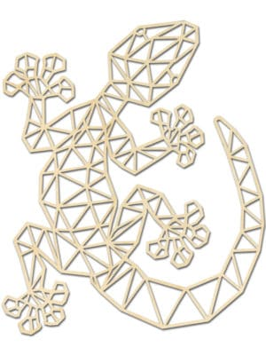 Geometrische houten Gekko