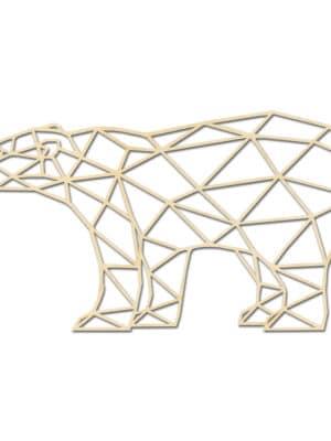 Geometrische houten IJsbeer