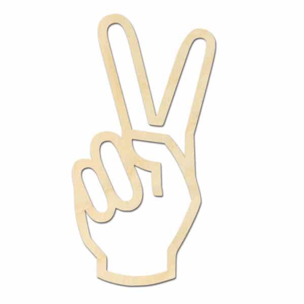 Geometrische houten Vredes teken