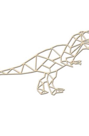 Geometrische Dino Hout Muur T-Rex