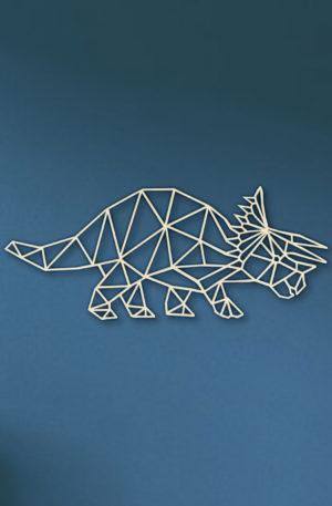 Geometrische Dino Hout Muur Tricep