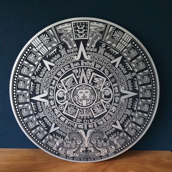 Maya bord muur hout