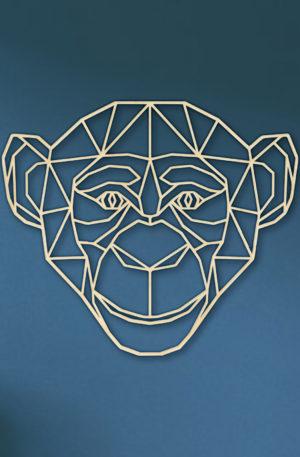 Geometrische Aap muur hout