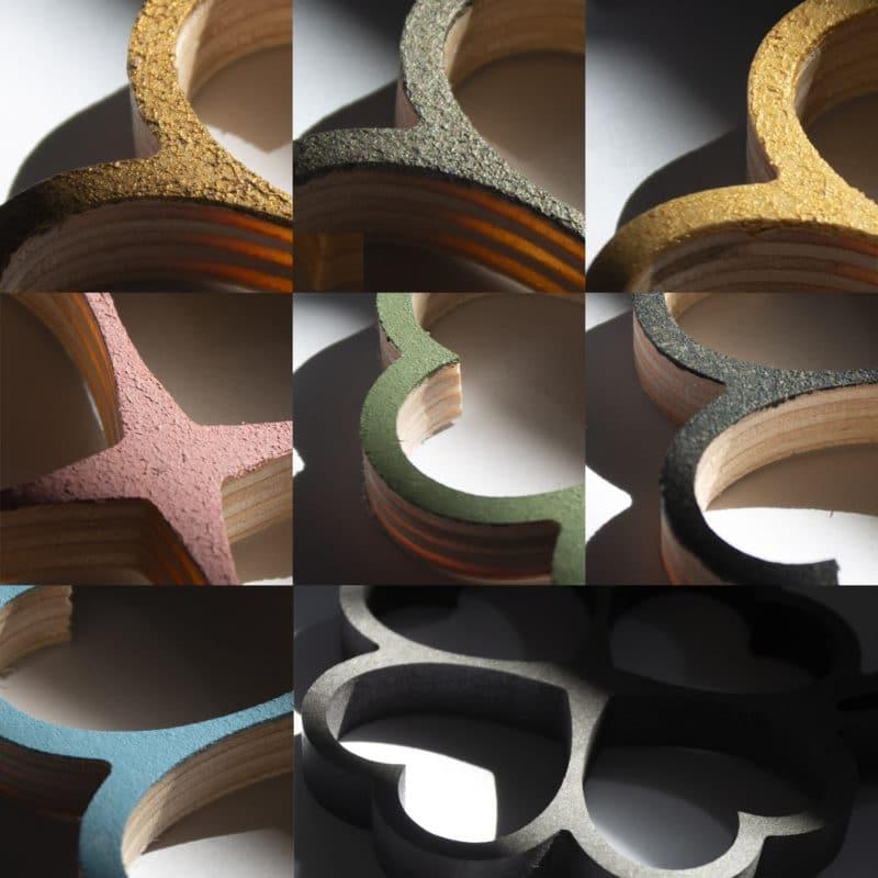 Geometrische Klaver hout