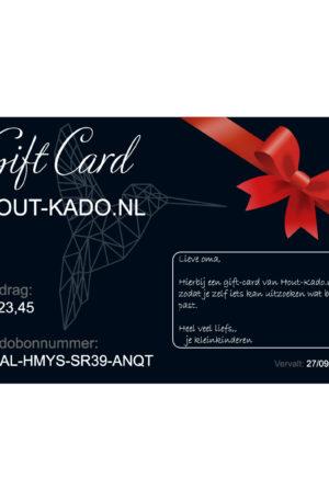 Gift Card hout-kado