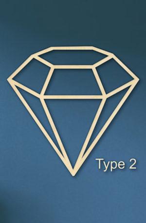 Geometrische diamant hout